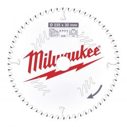 Milwaukee Lame de scie circulaire Bois Ø235x30x60Dts (4932471308)