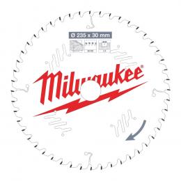 Milwaukee Lame de scie circulaire Bois Ø235x30x48Dts (4932471307)