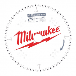 Milwaukee Lame de scie circulaire Alu Ø235x30x60Dts (4932471309)