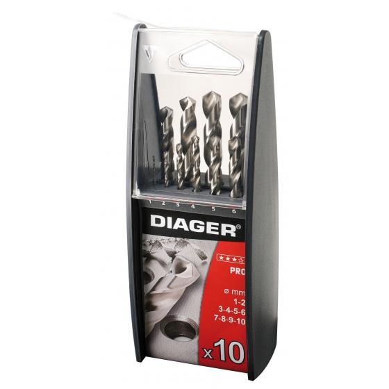 Coffret de 10 forets métal DIAGER 718C