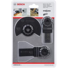 Bosch Set de 3 Lames Bois pour outil multifonction STARLOCK (2608662343)