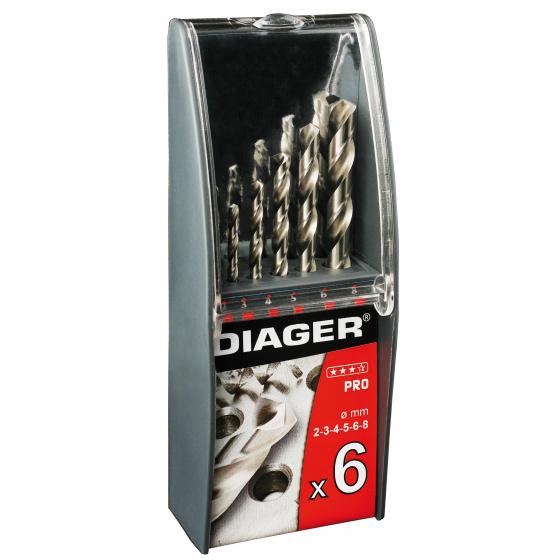 Coffret de 6 forets métal DIAGER 700C