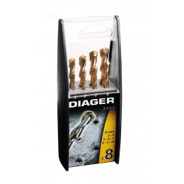 Coffret plastique 8 Forets granit DIAGER 207B