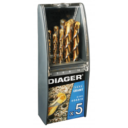 Coffret plastique 5 Forets granit DIAGER 221B