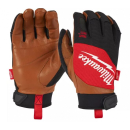 Milwaukee Gants de protection en cuir Hybride