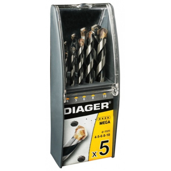 Coffret 5 forets béton DIAGER MEGA 211C