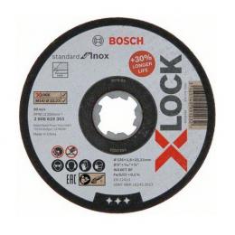 Bosch x10 Disques à tronçonner droits X-LOCK Standard for Inox ø125x1.6mm (2608619364)