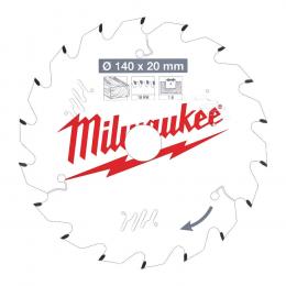 Milwaukee Lame de scie circulaire Bois Ø140x20x18Dts (4932471310)