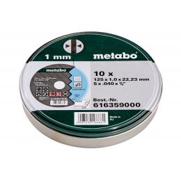 Metabo 10 Disques à tronçonner ø125x1.0mm Inox (616359000)
