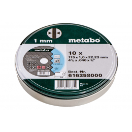 Metabo 10 Disques à tronçonner ø115x1.0mm Inox (616358000)