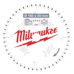 Milwaukee Lame de scie circulaire Bois Ø160x20x48Dts ATB (4932471291)