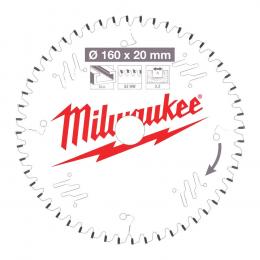 Milwaukee Lame de scie circulaire Alu Ø165x20x52Dts TF (4932471292)
