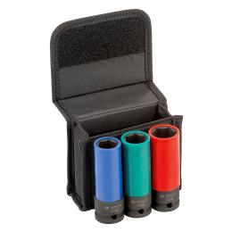 """Bosch Set de 3 douilles 17, 19 et 21mm pour boulonneuse 1/2"""" (2608551102)"""