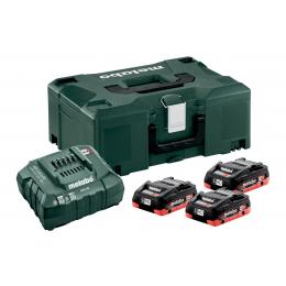 Metabo Pack de Batteries Li-HD 18V 3x4.0Ah + Chargeur ASC 55 + Coffret Metaloc (685133000)