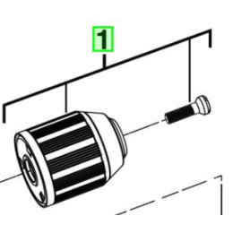 AEG Mandrin ø13mm Perceuse BS18G2LI, BSB18G2LI (4931435601)
