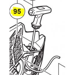 Hikoki Lanceur avec poignée pour Tronçonneuse Thermique CM75 EAP, CM75 EBP (6600467)