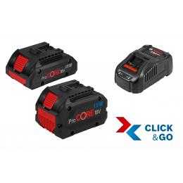 Bosch Starter set ProCORE 18V 1x5.5Ah + 1x4.0Ah Chargeur GAL 1880 CV (1600A0214A)