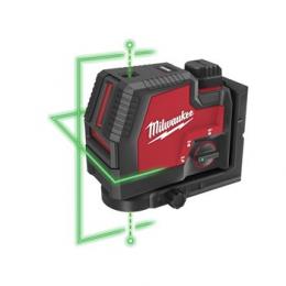 Milwaukee L4 CLLP-301C Laser Vert 2 Lignes avec Applomb USB 1x3.0Ah (4933478099)