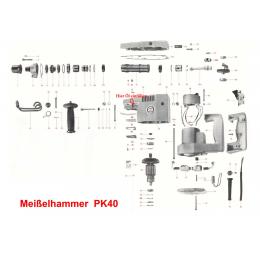 Duss PK40-72 Paire de charbons pour Burineur PK40, PK100