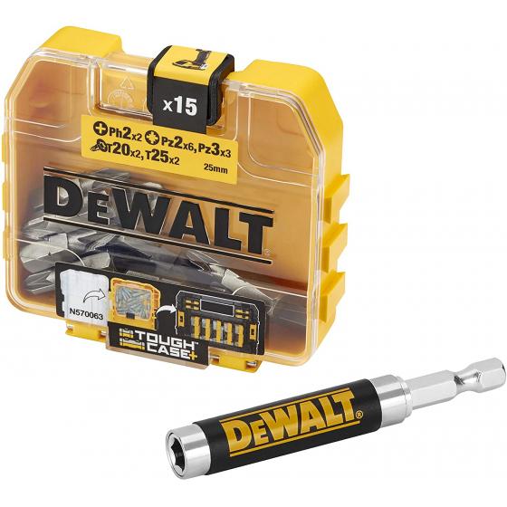 Dewalt DT71511-QZ Coffret de 16 pièces de vissage avec Guide magnétique et coffret ToughCase+