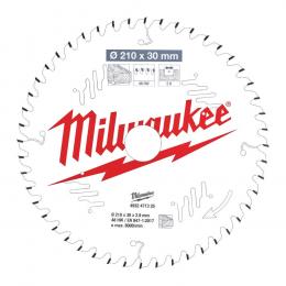 Milwaukee Lame de scie circulaire Bois Ø210x30x48Dts ATB (4932471325)