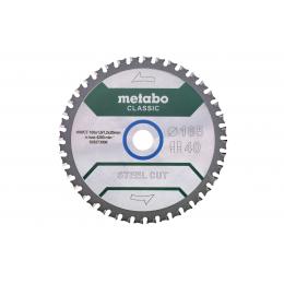 Metabo Lame de scie métal ø165x20 40Dts « STEEL CUT - CLASSIC » (628273000)