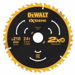 """DeWALT Lame de scie circulaire ø210x30 24 Dents """"Extrême"""" DT20432-QZ"""