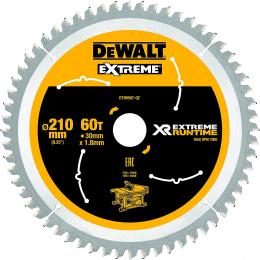 """DeWALT Lame de scie circulaire ø210x30 60 Dents """"Extrême Runtime"""" DT99567-QZ"""