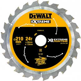 """DeWALT Lame de scie circulaire ø210x30 24 Dents """"Extrême Runtime"""" DT99565-QZ"""