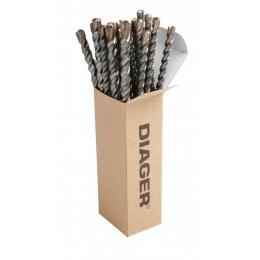 Boite de 12 Foret SDS-plus 8x160 DIAGER