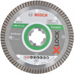 Bosch Disques à tronçonner ø125mm diamantés X-LOCK Best for Ceramic Extra Clean Turbo (2608615132)