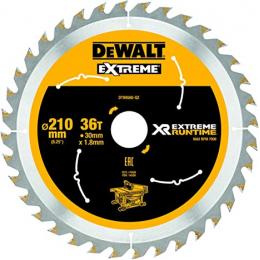 """DeWALT Lame de scie circulaire ø210x30 36 Dents """"Extrême Runtime"""" DT99566-QZ"""