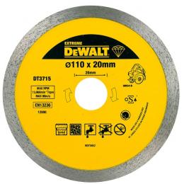 DeWALT Disque diamant ø110x20mm pour scie à carrelage DWC410 (DT3715-QZ)