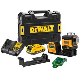 DeWALT Laser multilignes vert 3x360 XR18V 1x2.0Ah DCE089D1G18-QW
