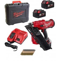 Milwaukee M18 FFN-502CA Cloueur de Charpente M18 Fuel 2x5.0Ah + 20 000 clous (4933479083)