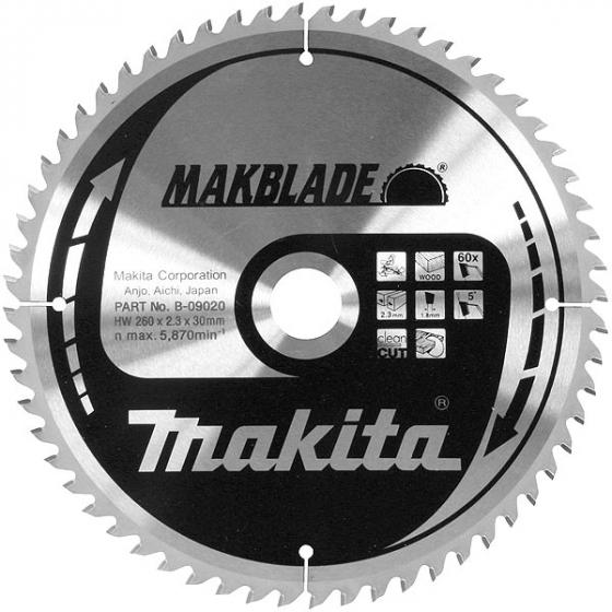 """Makita Lames ø305-30-40 Carbure """"Makblade"""" Bois B-08997"""