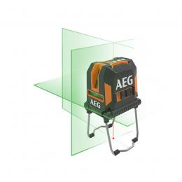 AEG Niveau laser croix vert avec point d'aplomb CLG330-K (4935472255)