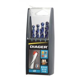 Coffret 8 forets Multi-matériaux Diager 215C