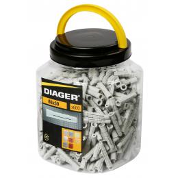 DIAGER Bidon de 600 Chevilles Nylon multimatériaux