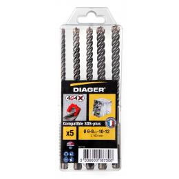 Diager Coffrets de x5 forets béton SDS-plus 4G4 (112Q)