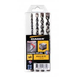 Diager Coffrets de x5 forets béton SDS-plus Twister PLUS (127B)