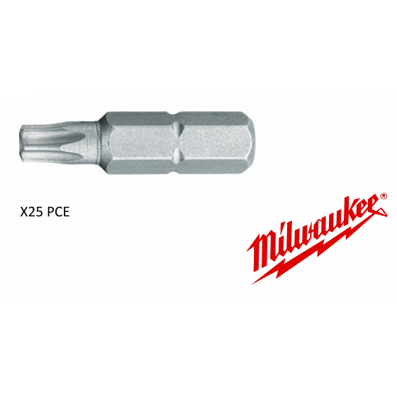 X25 Embouts TX25 - 25mm MILWAUKEE