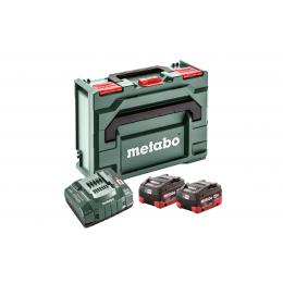 Metabo Pack de Batteries Li-HD 18V 2x5.5Ah + Chargeur ASC 145 avec coffret Metabox 145 (685077000)
