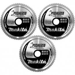 Makita B-34774 Lot de x3 Lames Inox B-31669 de scie circulaire ø185mm 64Dts ''Specialized''