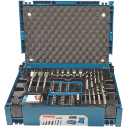 Makita B-43044 Set d'accessoires 66 pièces en coffret MAKPAC