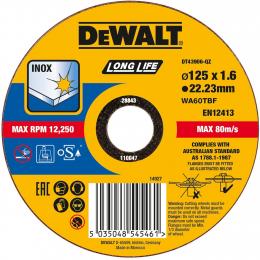 "DeWalt x25 Disques à tronçonner Inox ø125x1.6mm ""EXTRÊME"" DT43906-QZ"
