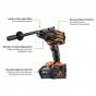 AEG BSB 18BL-0C Perceuse à percussion Brushless 18V 140 Nm (4935464099)