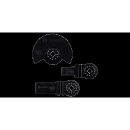 Bosch Set de 3 Lames bois pour outil multifonction STARLOCK (2607017323)