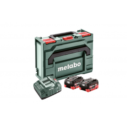 Metabo Pack de Batteries Li-HD 18V 2x8.0Ah + Chargeur ASC 145 + Coffret MetaBOX 145 (685131000)