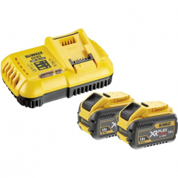 Dewalt DCB118X2 Pack de 2 Batteries & 1 Chargeur XR Flexvolt 54V 9.0Ah